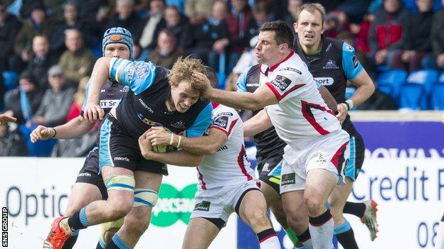 Glasgow beat a weakened Ulster side last weekend to finish top of the Pro12 standings