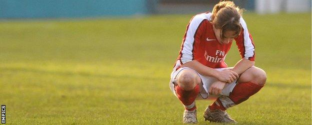 Corinne Yorston disappointment as Arsenal lose FA Cup final to Everton in 2008