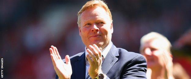 Saints manager Ronald Koeman