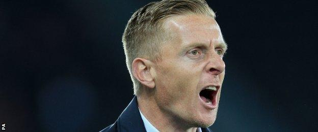 Swansea manager Gary Monk