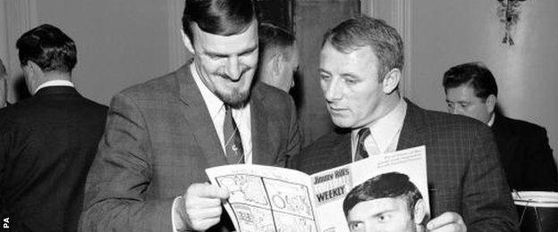 Jimmy Hill and Tommy Docherty