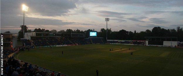 Swalec Stadium plunged into darkness
