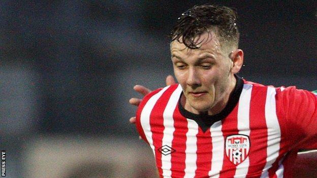 Seanan Clucas netted Derry City's equaliser against Sligo Rovers