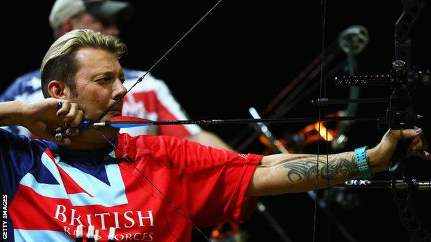 Michael Hall at the Invictus Games