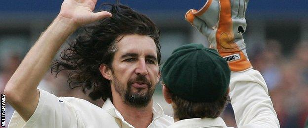 Jason Gillespie in the 2005 Ashes