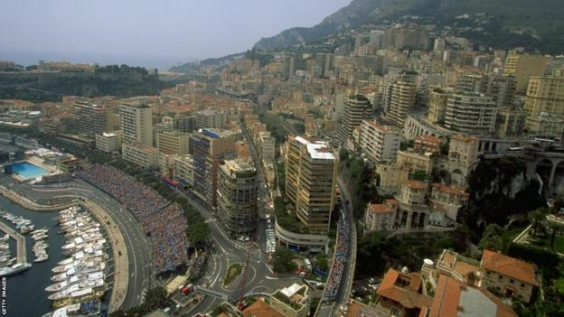 21-24 May 1998: General view of the Monte Carlo circuit during the Monaco Grand Prix.