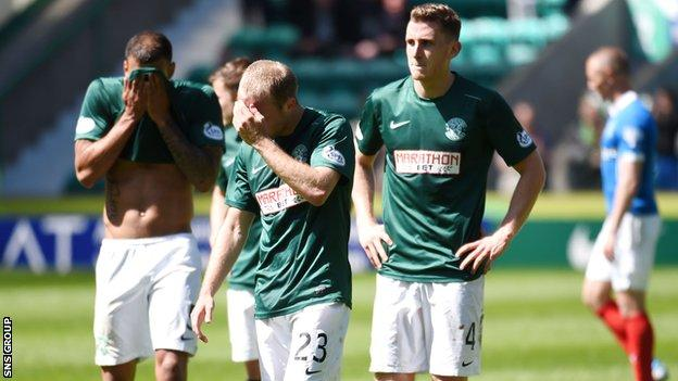 Hibs failed to bounce straight back up to the Premiership after last season's relegation