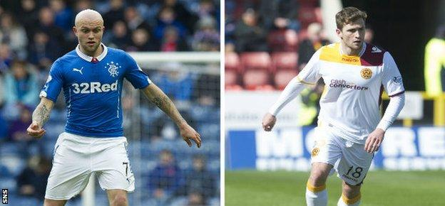 Nicky Law (left) and brother Josh will lock horns in the Scottish Premiership play-off final