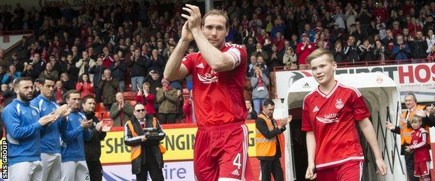 Aberdeen captain Russell Anderson was given a warm send-off at Pittodrie