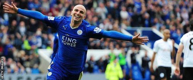 Leicester City's Esteban Cambiasso