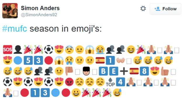 Manchester United's season in emojis