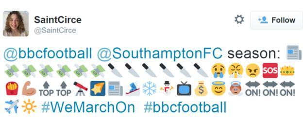 Southampton's season in emojis