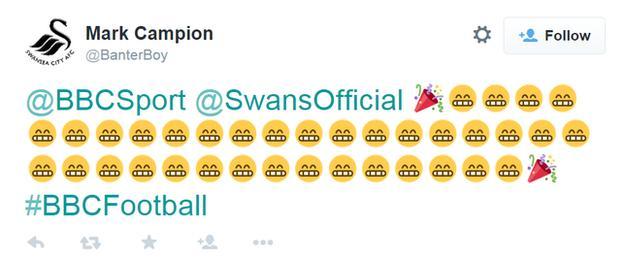 Swansea's season in emojis