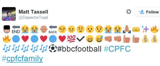 Crystal Palace's season in emojis