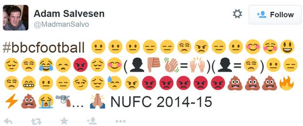 Newcastle's season in emojis
