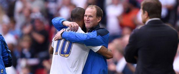 Preston boss Simon Grayson took off Jermaine Beckford with 22 minutes remaining
