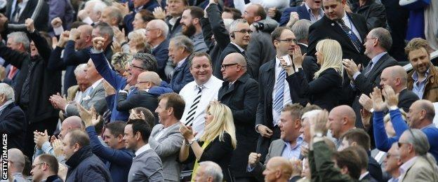 Newcastle owner Mike Ashley and managing director Lee Charnley