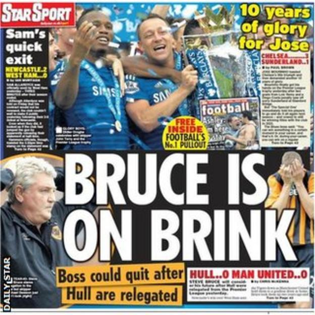 Monday's Daily Star back page