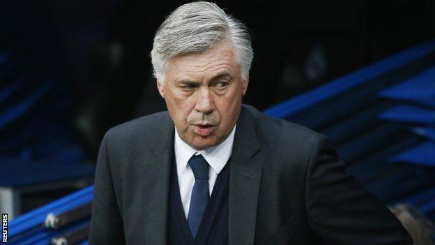 Former Real Madrid manager Carlo Ancelotti