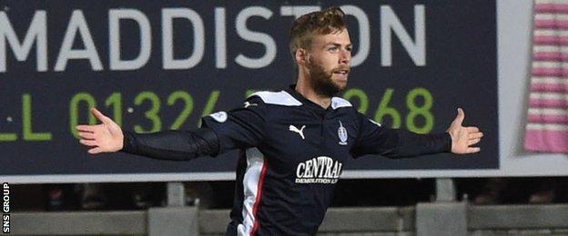 Falkirk striker Rory Loy