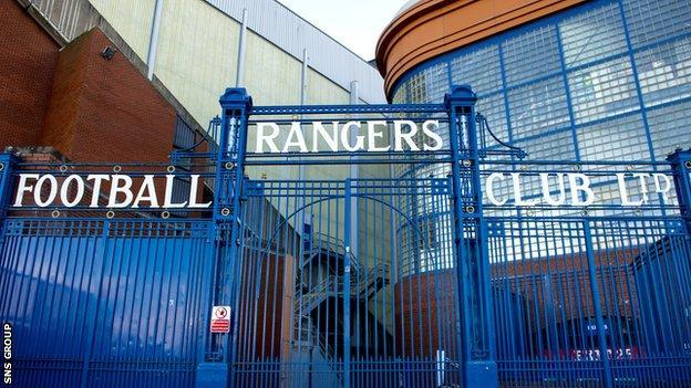 Ibrox Stadium, home of Rangers FC