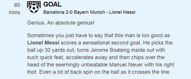 Barcelona v Bayern Munich live text