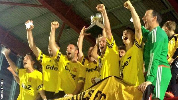 St Paul's celebrate their Le Riche Cup win