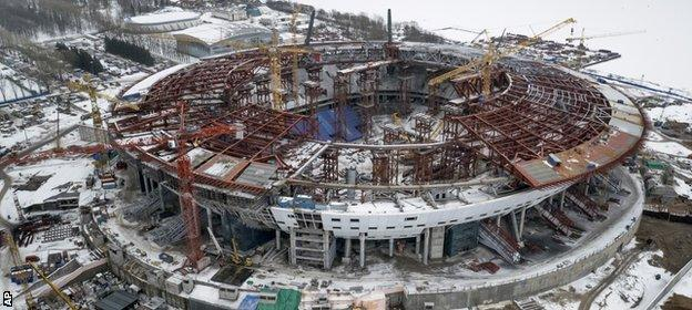 Construction work has begun on the Zenit Stadium, which will host 2018 World Cup matches