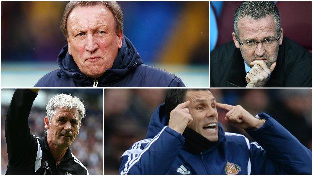 Neil Warnock, Paul Lambert, Alan Irvine, Gus Poyet
