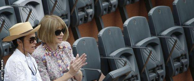 Vogue editor-in-chief Anna Wintour (right) was rumoured to be the inspiration behind the book The Devil Wears Prada
