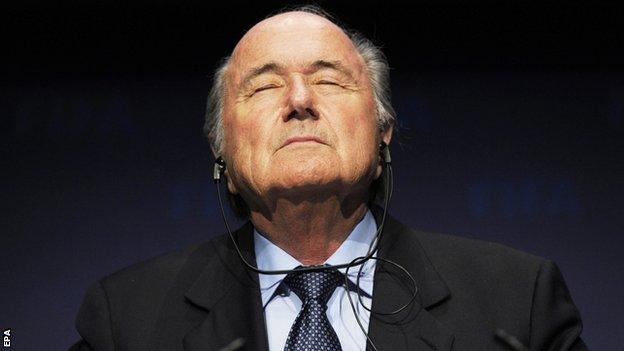 Sepp Blatter has been Fifa president since 1998