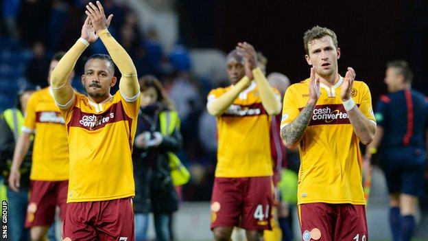 Motherwell won at Ibrox for the first time since 1997