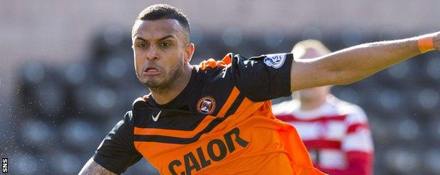 Dundee United striker Mario Bilate