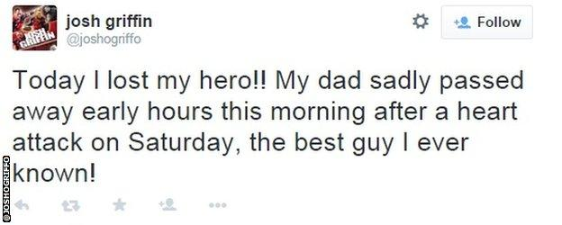 Josh Griffin tweet