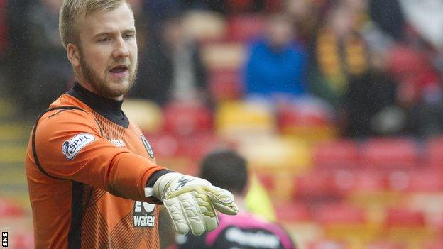 Scott Fox in action for Partick Thistle