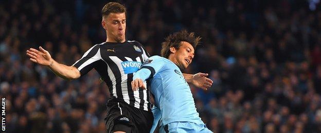 Newcastle defender Ryan Taylor