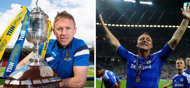 Inverness CT captain Richie Foran and Chelsea skipper John Terry
