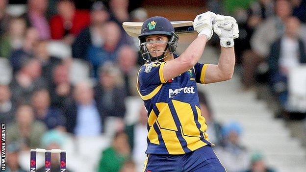 Ben Wright has been opening for Glamorgan in limited overs competitions