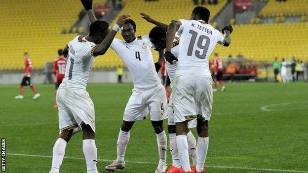 Ghana's Under-20 players