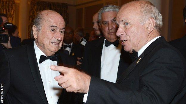 Sepp Blatter and Greg Dyke