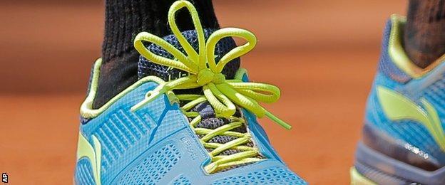 Marin Cilic's shoelaces