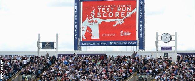 The Headingley scoreboard