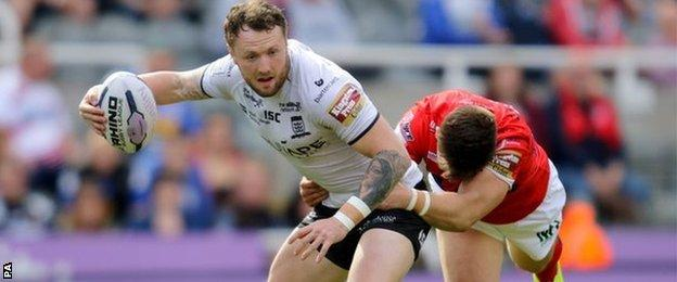 Hull FC full-back Jordan Rankin scored the sixth of his side's eight tries in the Humberside derby win on Tyneside