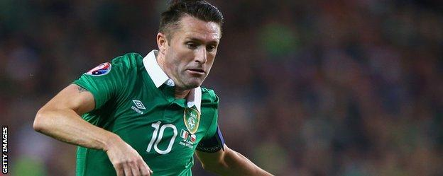 Robbie Keane in action for Republic of Ireland