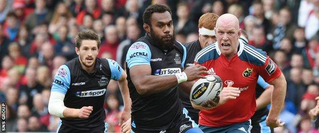 Leone Nakarawa was inspirational for Glasgow in the first half