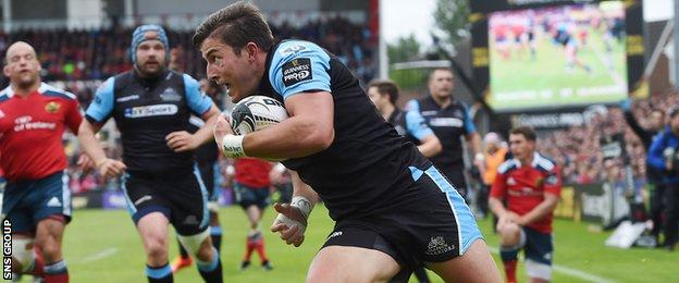 DTH van der Merwe was a try-scorer for Glasgow in the final