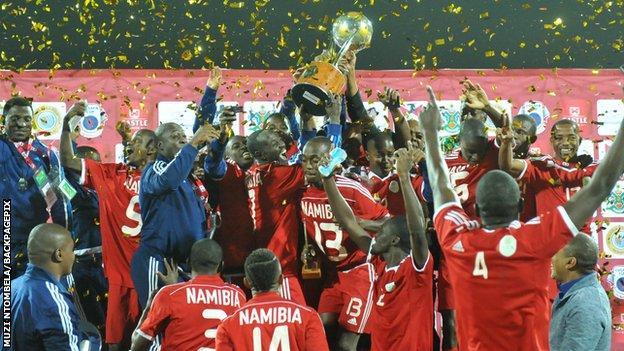 Namibia win the 2015 Cosafa Cup