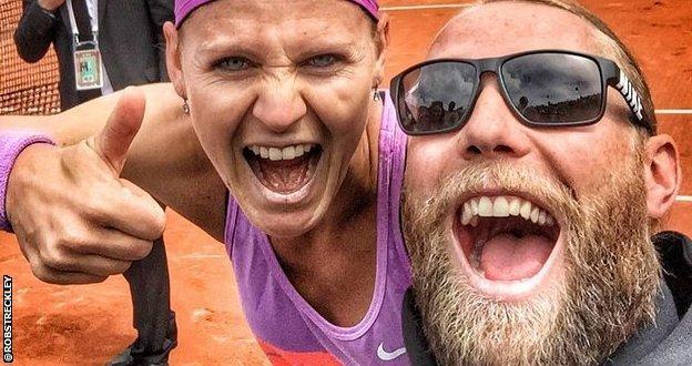 Lucie Sararova and coach Rob Streckley