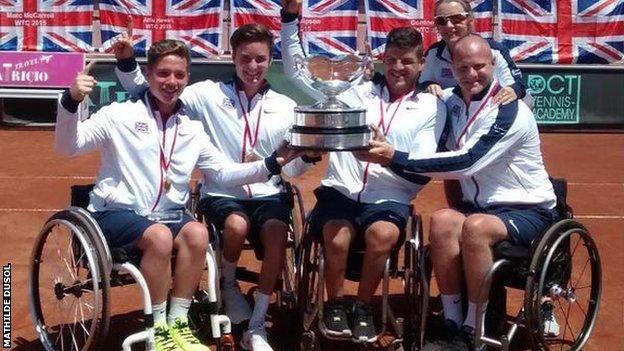 Great Britain men win wheelchair tennis team World Cup
