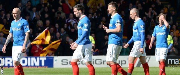 Rangers reached the play-off final after finishing third in the Championship